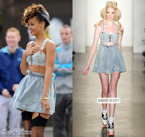 Rihanna in Jeremy Scott, We Found Love video