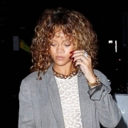 Rihanna spotted out and about