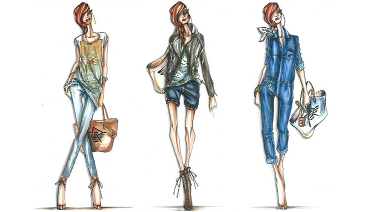 Rihanna for Armani fashion sketches