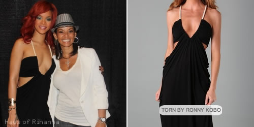 Rihanna in Sharon maxi dress from Torn by Ronny Kobo