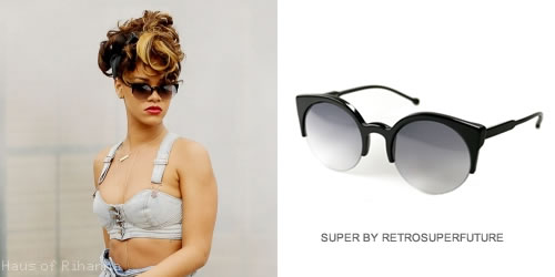 Rihanna in Super Lucia sunglasses by Retrosuperfuture