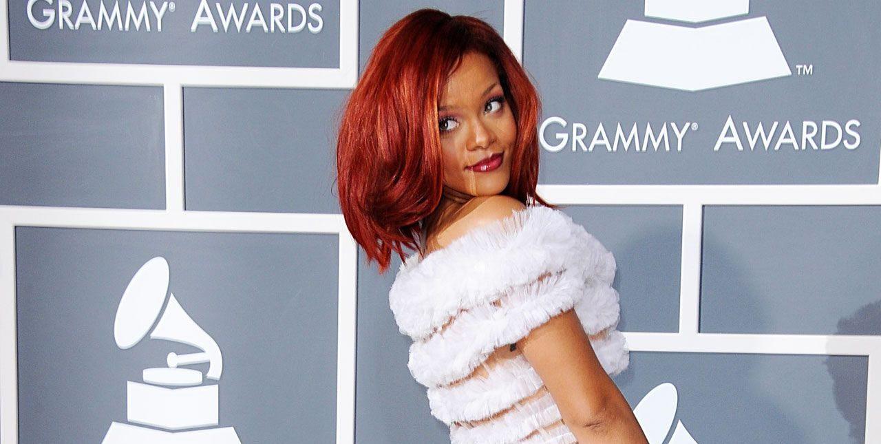 Rihanna at the 2011 Grammy Awards