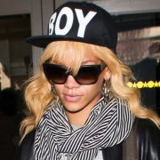 Rihanna wearing Boy London hat