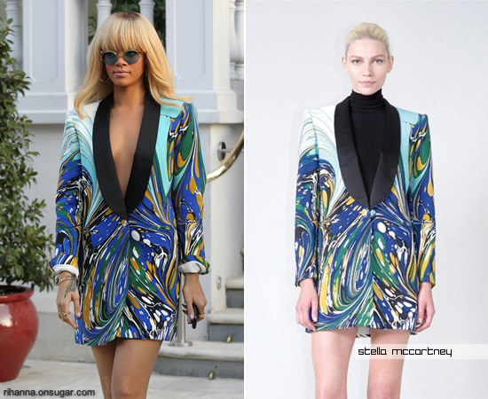 Rihanna in Stella McCartney Printed Blazer