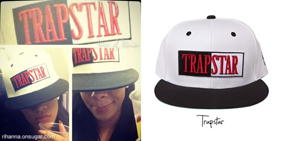 Rihanna in Trapstar hat