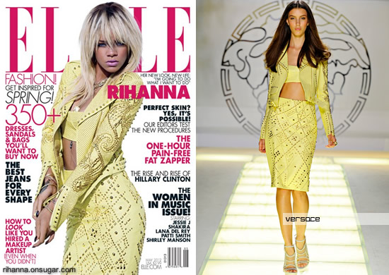 Rihanna covers Elle magazine May 2012