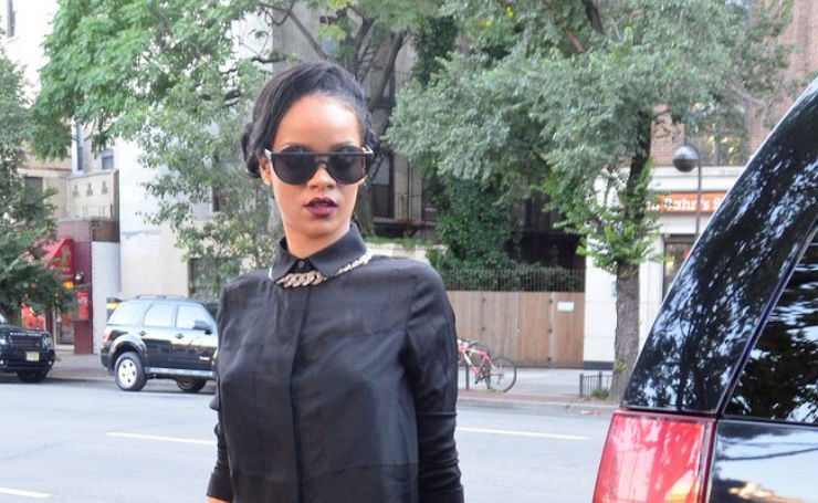 Rihanna in Henry Holland for Le Specs sunglasses