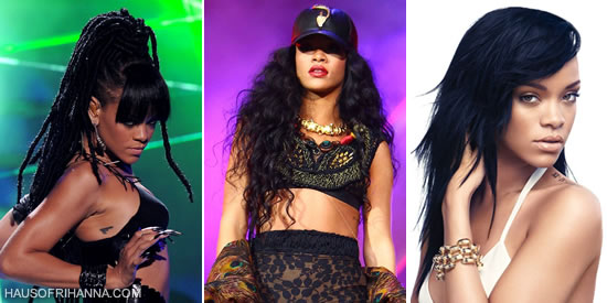 Rihanna wearing weave from Echelon Hair in New York