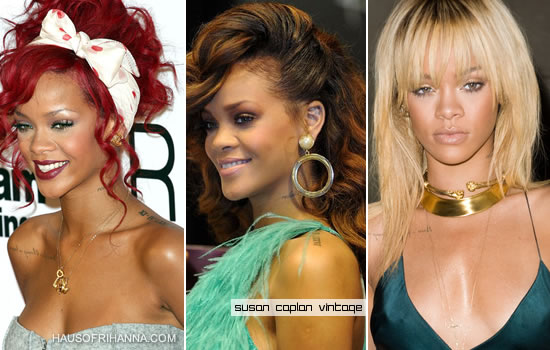Rihanna in vintage jewelry from Susan Caplan