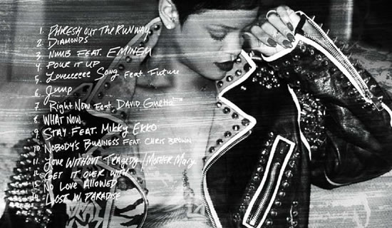 Rihanna Unapologetic Booklet In the booklet for Rihanna s