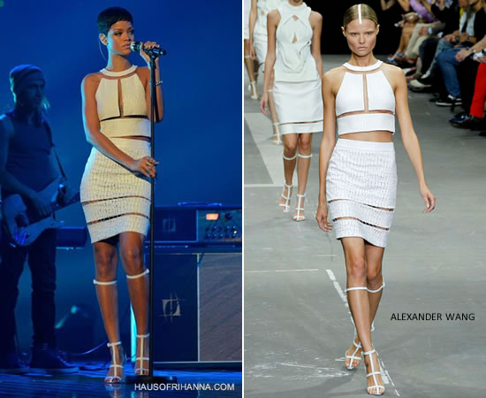 Rihanna x factor white dress in stores