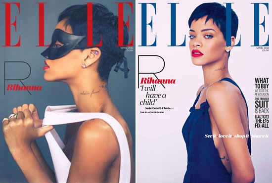 Rihanna covers Elle UK April 2013