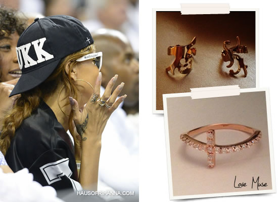 Rihanna in Love Muse rings