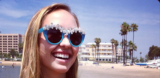 Sweet on the Eyes Rosalie sunglasses in Turquoise