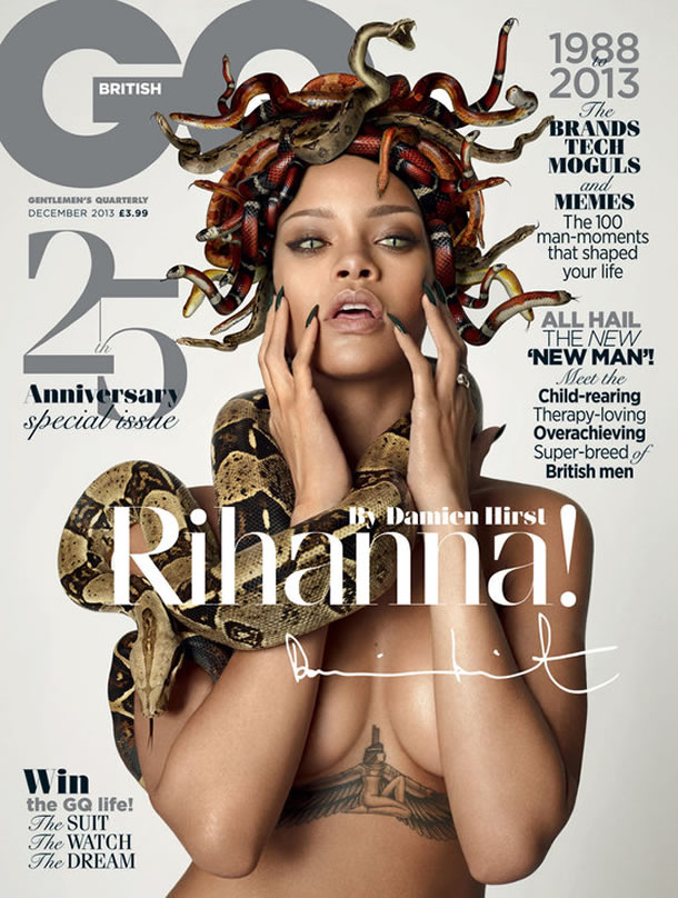 Rihanna covers British GQ December 2013 25th anniversary issue