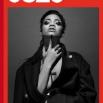 Rihanna covers 032c magazine in Gucci coat and Lynn Ban jewelry
