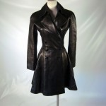 Azzedine Alaia lambskin leather coat