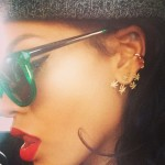 Rihanna wearing Jacquie Aiche Sweet Leaf ear jacket