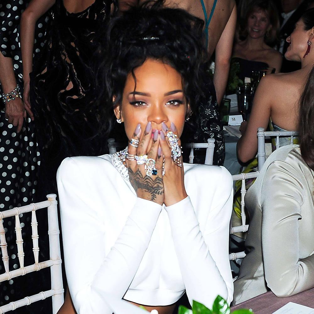 Rihanna wearing OPI Taupe-less Beauty Polish at the Met Gala