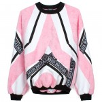 Nasir Mazhar pink color block sweatshirt
