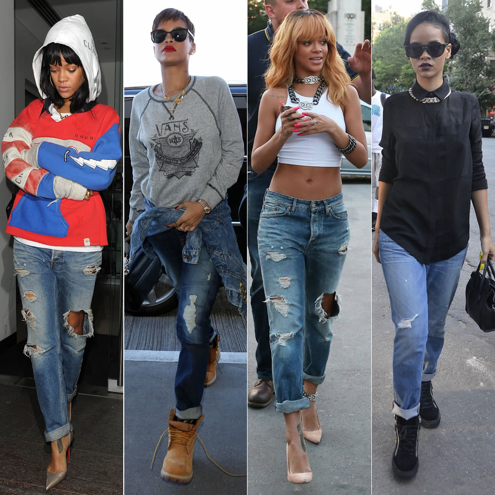 The Look For Less: Distressed Boyfriend Jeans - Haus of Rihanna