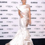 Rihanna at Glamour Women of the Year 2009 in Stephane Rolland couture gown