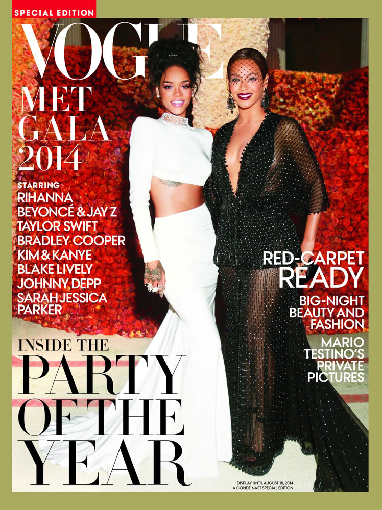 Rihanna and Beyonce cover Vogue Met Gala 2014 special edition magazine