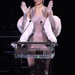 Rihanna accepting her CFDA Fashion Icon of the Year award