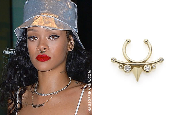 Rihanna in Meadowlark small thorn septum ring