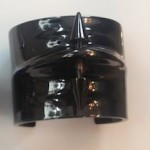 Jennifer Fisher black/brass pierced cuff from the Dark Side collection