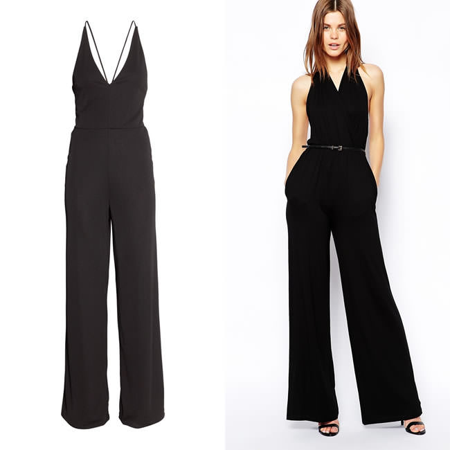get the look for less rihanna 39 s black jumpsuit. Black Bedroom Furniture Sets. Home Design Ideas