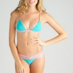 Kai Lani Seafoam/Rose Bralet top and Boom Boom cinched bottoms
