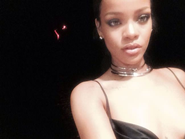 Rihanna wearing Jennifer Fisher yellow gold knot choker, double ball choker and Stop It Right Now choker