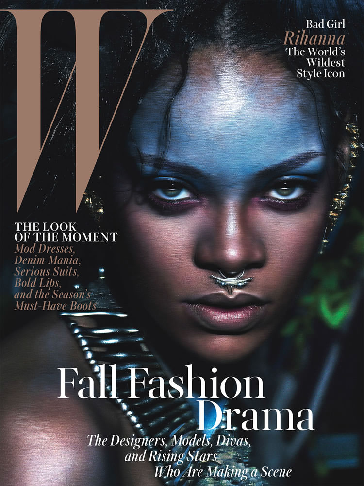 Rihanna on the cover of W Magazine September 2014 issue