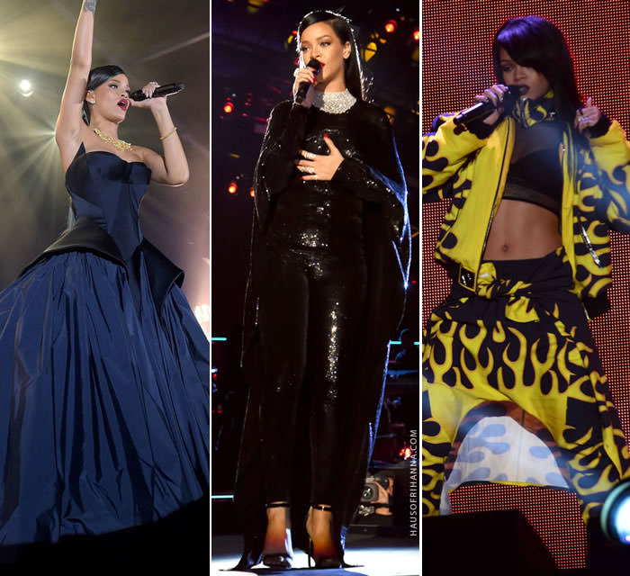 Rihanna's best performance outfits of 2014