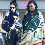 Bless letterman jackets at VFILES as seen on Rihanna