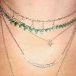 Jacquie Aiche emerald cluster necklace as seen on Rihanna