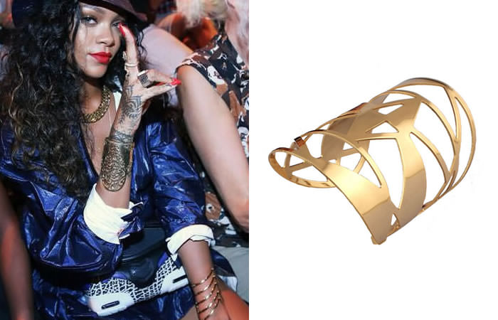 Koree's Closet faceted opened long cuff