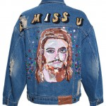 Ashish denim I Miss You sequinned jacket as seen on Rihanna