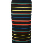 Givenchy multicolored striped chevron knit skirt as seen on Rihanna