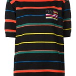 Givenchy multicolored striped knit t-shirt as seen on Rihanna