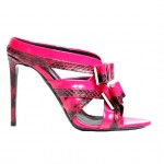 Nicholas Kirkwood Resort 2015 pink bow mule sandals as seen on Rihanna