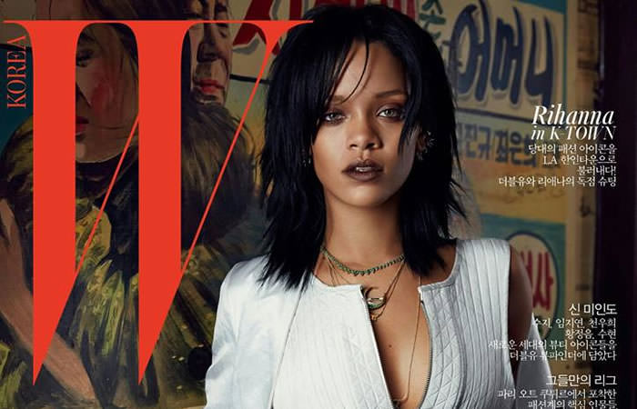 Rihanna in W Korea