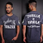Roots of Fight Joe Frazier Thrilla in Manila sun faded t-shirt as seen on Rihanna