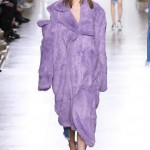 Marques'Almeida Fall 2015 purple faux fur coat as seen on Rihanna
