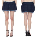 Marques'Almeida denim flap mini skirt as seen on Rihanna