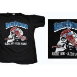 Harley Davidson vintage Ride Me Ride Free t-shirt as seen on Rihanna