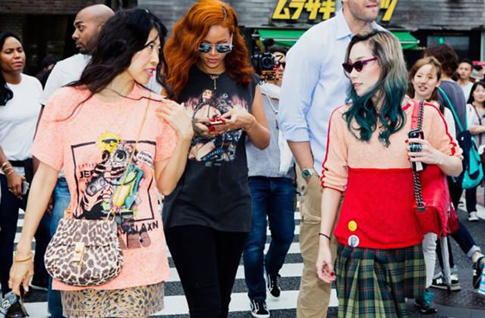 Rihanna in Tokyo with Baby Mary and Mademoiselle Yulia