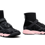 Dior Fusion high-top embroidered sneakers as seen on Rihanna