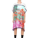 Andrea Crews oversized Iris Mint t-shirt with attached Van Gogh scarf as seen on Rihanna